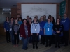 OPSEU members wearing blue at 49 Place d\'Armes